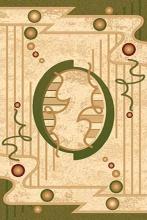Ковер d002 - GREEN - Прямоугольник - коллекция VALENCIA