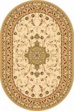 Ковер d115 - CREAM - Овал - коллекция VALENCIA
